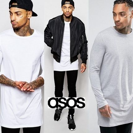 ASOS Long Sleeve Crew Neck Pullovers Street Style Long Sleeves Cotton