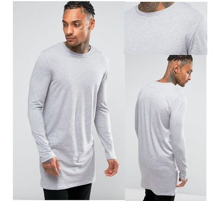 ASOS Long Sleeve Crew Neck Pullovers Street Style Long Sleeves Cotton 5