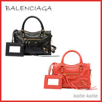 BALENCIAGA CITY Lambskin Handbags