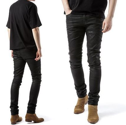 Saint Laurent Plain Cotton Skinny Fit Jeans & Denim