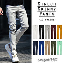 Street Style Plain Cotton Skinny Fit Pants