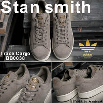 adidas STAN SMITH Unisex Suede Plain Sneakers