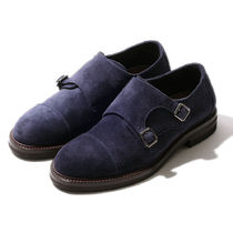 BRUNELLO CUCINELLI Straight Tip Monk Suede Loafers & Slip-ons