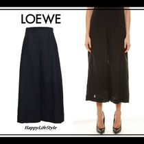 LOEWE Casual Style Linen Plain Culottes & Gaucho Pants