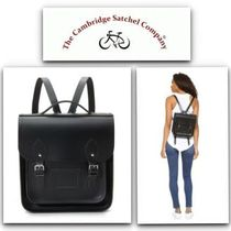 Cambridge Satchel Casual Style Unisex Plain Leather Backpacks