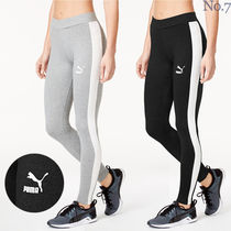 PUMA Street Style Plain Cotton Leggings Pants