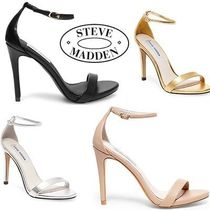 Steve Madden Open Toe Faux Fur Plain Pin Heels Heeled Sandals