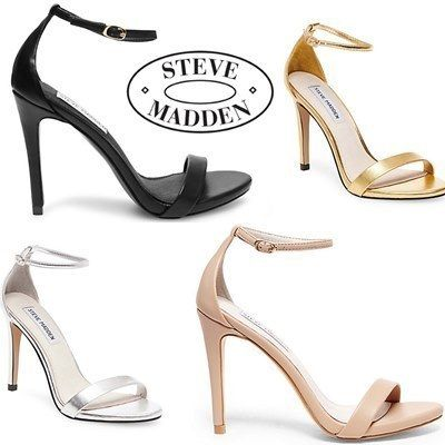 SM ankle strap pin heels sandals STECY