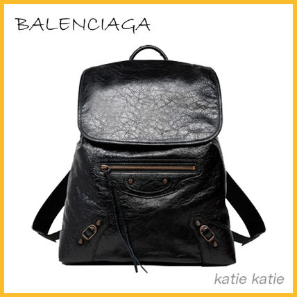 Black Lambskin Classic Traveller S Backpack