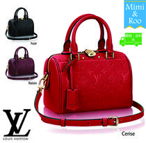 Louis Vuitton SPEEDY Monoglam 2WAY Leather Elegant Style Boston & Duffles