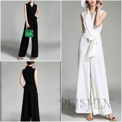 Corporate wide pants suit-overalls set up adult