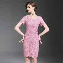 Short Short Sleeves Lace Party Dresses
