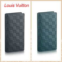 Louis Vuitton Other Check Patterns Unisex Street Style Plain Leather