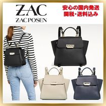 ZAC ZAC POSEN Casual Style Calfskin 2WAY Plain Backpacks