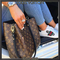 Louis Vuitton NEONOE Monogram Calfskin Tassel 2WAY Bi-color Purses Elegant Style