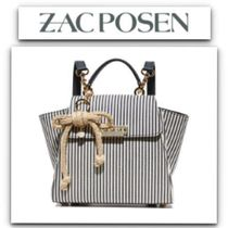 ZAC ZAC POSEN Stripes Casual Style Canvas 2WAY Backpacks