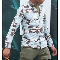Camouflage Long Sleeves Cotton Shirts