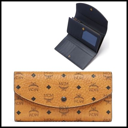 Monoglam Unisex Calfskin Long Wallets
