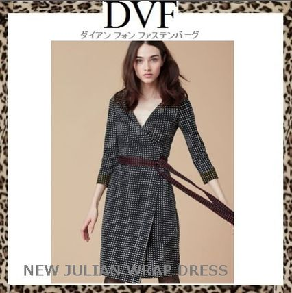 DVF 2017 SS new Dots design classic New Julian wrap dress