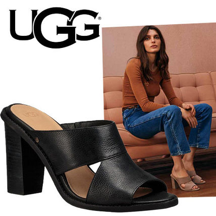 -UGG-2017 CELIA heel sandal leather black