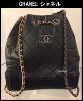 CHANEL TIMELESS CLASSICS Bag in Bag Chain Plain Leather Elegant Style Backpacks