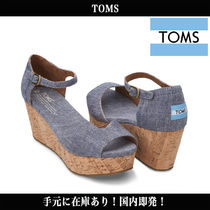 TOMS Open Toe Casual Style Blended Fabrics Sandals Sandal