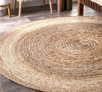 Plain Round Ethnic Carpets & Rugs