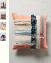 Anthropologie Fringes Decorative Pillows