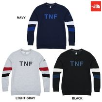 THE NORTH FACE Crew Neck Argile Low Gauge Street Style Long Sleeves Plain