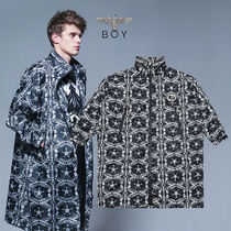 BOY LONDON Star Street Style Other Animal Patterns Long Outerwear
