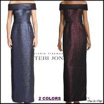 TERI JON Maxi Plain Long Party Dresses