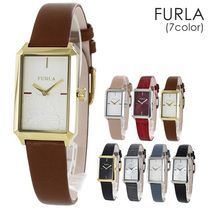 FURLA Casual Style Street Style Leather Party Style Quartz Watches