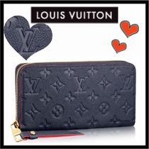 Louis Vuitton MONOGRAM EMPREINTE Monogram Unisex Calfskin Plain Long Wallets