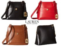 Ralph Lauren 2WAY Plain Leather Elegant Style Shoulder Bags