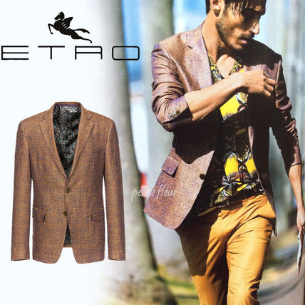 ETRO Short Plain Blazers Jackets