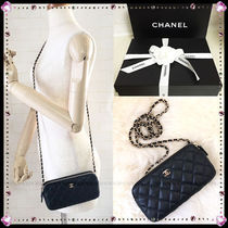CHANEL MATELASSE Lambskin 2WAY Chain Party Style Shoulder Bags