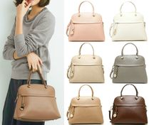 FURLA PIPER 2WAY Plain Leather Handbags