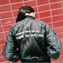 COMME des GARCONS Short Unisex Street Style Collaboration MA-1 Bomber Jackets