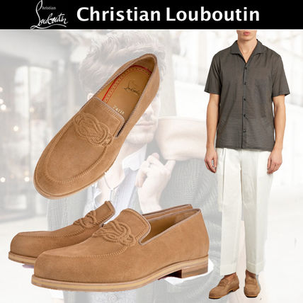 Christian Louboutin Plain Toe Moccasin Loafers & Slip-ons