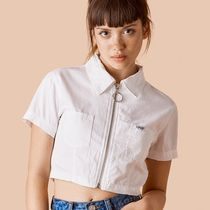 UNIF Clothing Short Casual Style Street Style Plain Cotton Short Sleeves