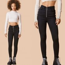 UNIF Clothing Casual Style Denim Street Style Plain Long Skinny Jeans