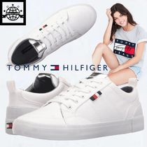 Tommy Hilfiger Round Toe Rubber Sole Lace-up Casual Style Unisex Plain