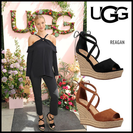 Includes UGG REAGAN suede heel sandals