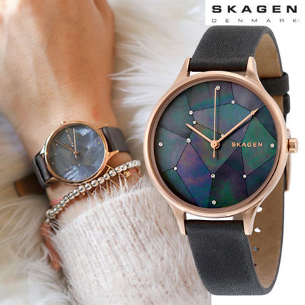 SKAGEN Starry Sky Gray Leather SKW 2390 watches