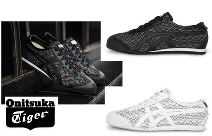 Onitsuka Tiger Round Toe Lace-up Casual Style Street Style Low-Top Sneakers
