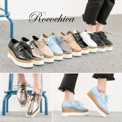 ROCOCHICA 9 type lace up platform shoes