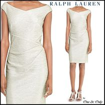 Ralph Lauren Tight Sleeveless Plain Medium Party Dresses
