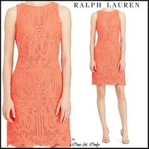 Ralph Lauren Short Tight Sleeveless Plain Party Dresses