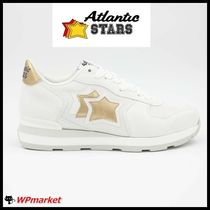 Atlantic STARS Star Street Style Leather Low-Top Sneakers
