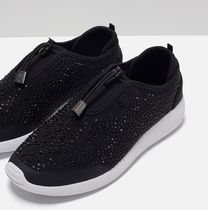 ZARA Plain With Jewels Low-Top Sneakers
